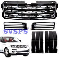 Tuning Parts Front Middle Side Fog Lamp Grille Cover Mesh Grill Kit fit for Land Rover Range Rover vogue vehicle 2013 2017 year