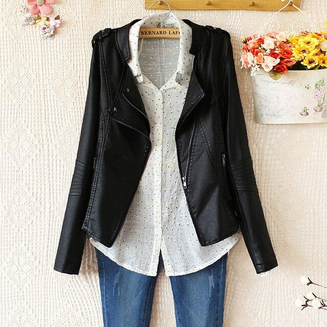 Уличная одежда пальто E4761-2013 женщины в воротник-стойка мотоцикл кожа одежда дизайн куртка верхняя одежда 1017