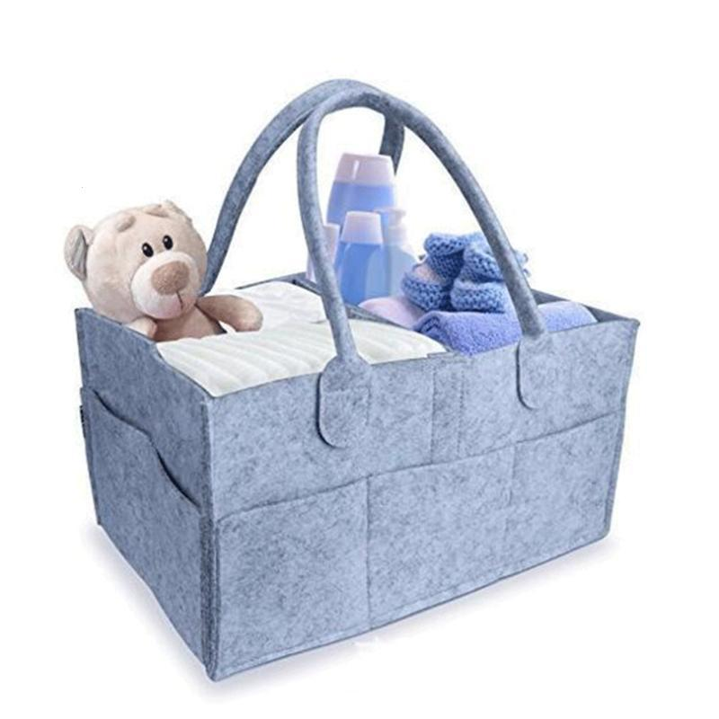 Foldable Baby Diaper Caddy Nursery Wipes tote Organizer Portable Storage Caddy for Diapers Gray #11030