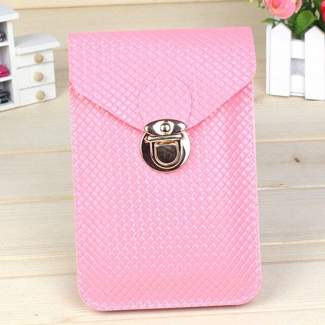 2019 nova moda bolsas pacote de telefone celular de um ombro oblíquo das mulheres saco de pu bolsa de couro bolsa