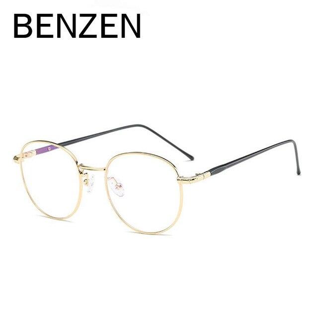 BENZEN Óculos Redondos Vintage Frame Mulheres Homens Miopia Óculos de  Armação Espetáculo Óculos Retro Óculos Com 5aa009591d