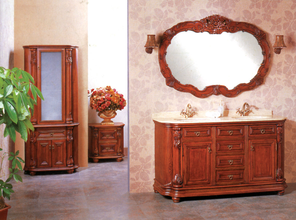 Unique Design Wooden Bathroom Vanity Cabinet Was Made From Solid Wood For Bathroom In Bathroom