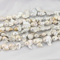 1 Strand Large 25 30mm White Baroque Pearl Strands High Quality Big Freshwater Pearl Beads DIY Jewelry Necklace Pearls LPS0001