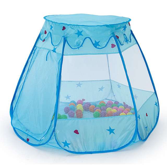 Kids Foldable Play Tent Girls Princess Castle Playhouses for Kids Portable Ball Pool Indoor Baby Playpen Fence Toy Tents