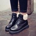 Mulheres botas de couro PU botas de moda quente botas de neve das mulheres botas de tornozelo para as mulheres de cor preta sh040053 size35-40
