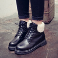 Women boots PU leather fashion warm boots women's snow boots ankle boots for women black color size35-40 sh040053