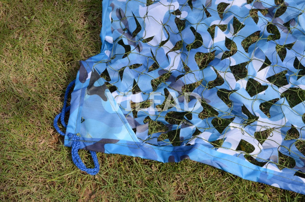 VILEAD 3 5x7M Camo Netting Blue Camouflage Netting Camo Tarp Car Cover Roof Decoration Beach Tent Silicone Tarp Camping Shade in Sun Shelter from Sports Entertainment