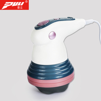 PULI Vibration Body Weight Loss Fat Loss Body Massage Machine Infrared Electric Roller Massager Handheld Relax Spin Massager