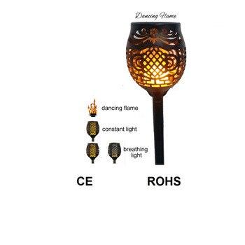 update Solar 96LEDs Dancing flame Torch Lights radar 3 working mode vs 55/48/38/20 led LED Solar p65 festal light waterproof tor refletor fq led