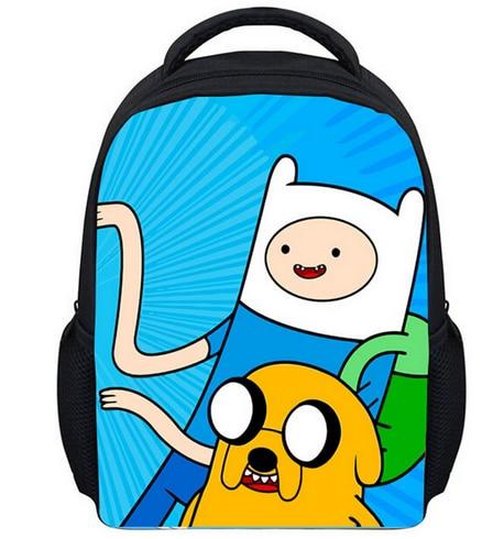 245394bfdabe 13 Inch Cartoon Adventure Time Kids Backpack Kindergarten School Bag  Children Printing Backpack Girls Boys Mochila-in Backpacks from Luggage    Bags on ...