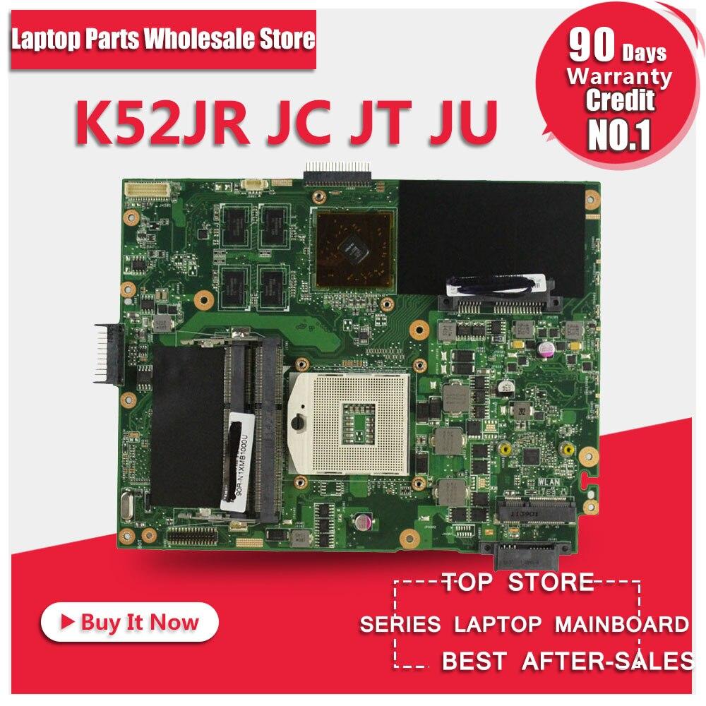 K52JU Материнская плата ноутбука для ASUS K52JT, K52J, K52JC, A52J, x52JC X52J K52JE с HD6370 512 М DDR3
