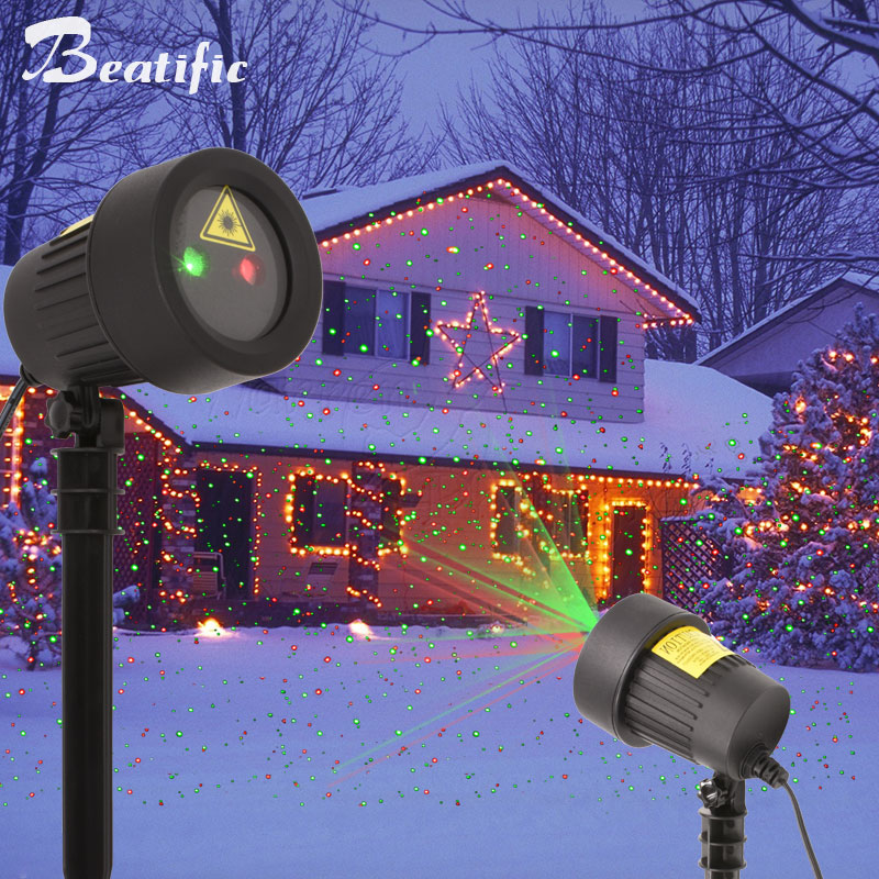 Outdoor Christmas Lighting Laser Projector Decorations for Home New Year Fairy lights Garden Holiday Decor Lawn Light цена