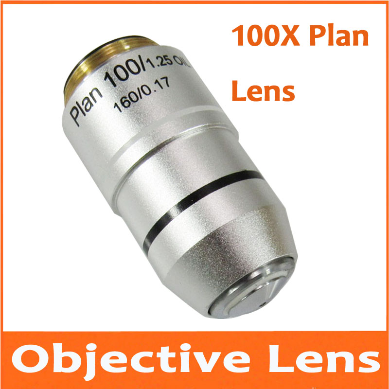 5pcs 100X L=195 Plan Achromatic Biological Microscope 100 Times Objective Lens Biomicroscopy Accessories for Lab Science 40x l 195 plan achromatic biological microscope objective lens laboratory biomicroscopy accessories 20 2mm for medical science