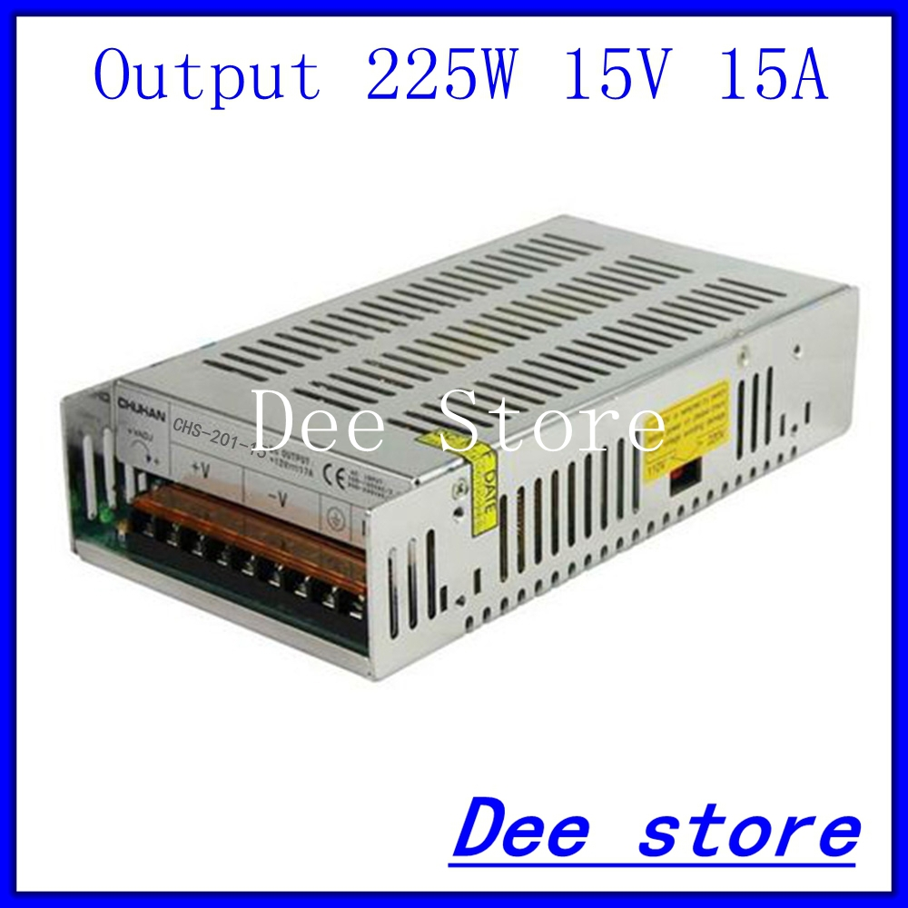 Led driver 225W 15V 15A Single Output Switching power supply unit for LED Strip light AC-DC Converter led driver 1200w 24v 0v 26 4v 50a single output switching power supply unit for led strip light universal ac dc converter