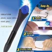 5 Second Fix UV Light Repair Glue Tool Pen Dip Welding Compound Kit Super Powered Liquid Plastic Welding Compound