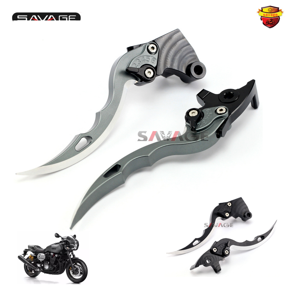 For YAMAHA MT-01 2004-2012, V-MAX 1700 2009-2016  Knife Blade CNC Long Brake & Clutch Levers Motorcycle Accessories 2016 hot sale golden color cnc aluminium motorcycle brake clutch lever protect guard for yamaha mt 01 2004 2009