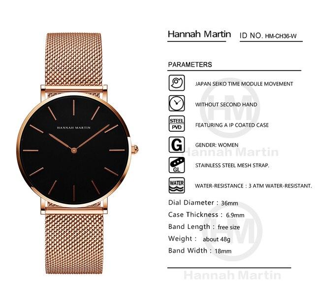 Women Watches Top Brand Luxury Japan Quartz Movement Stainless Steel Sliver White Dial Waterproof Wristwatches relogio feminino 5