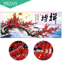 Meian Special Shaped Diamond Embroidery Plum Figting 5D Diamond Painting Cross Stitch 3D Diamond Mosaic Decoration