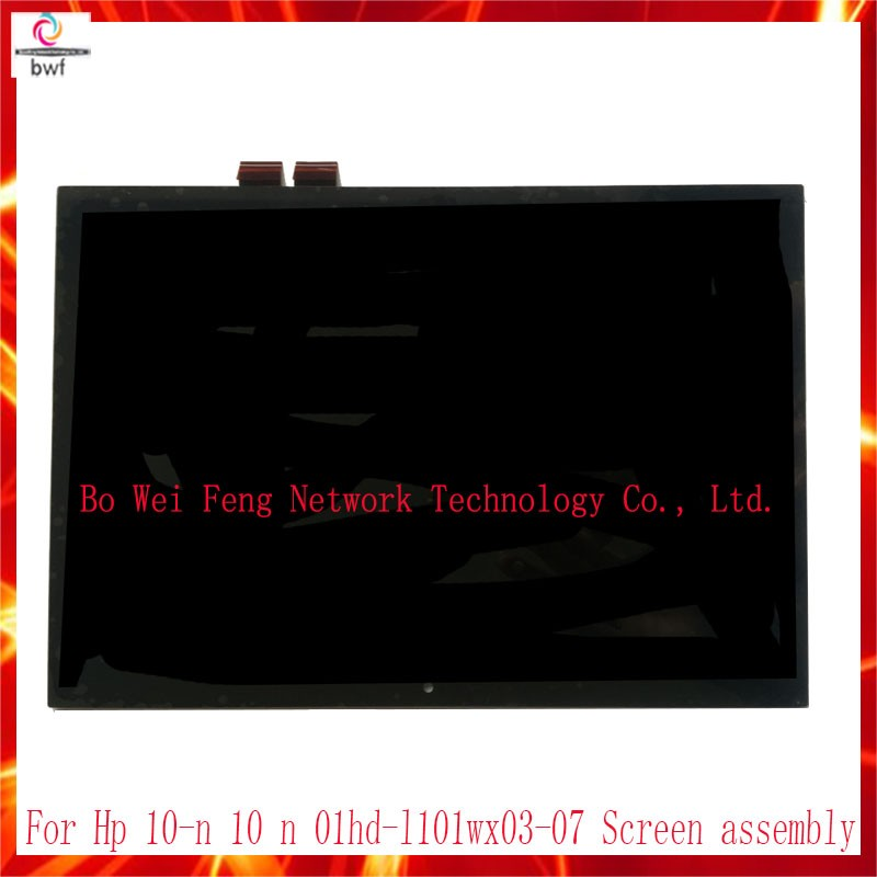 10Pcs DHL High Quality for HP 10-n 10 n 01hd-l101wx03-07 Touch Screen Digitizer+LCD Display Panel Full Assembly TV101WXM-NP0 LCD 10pcs dhl high quality for hp 10 n 10 n