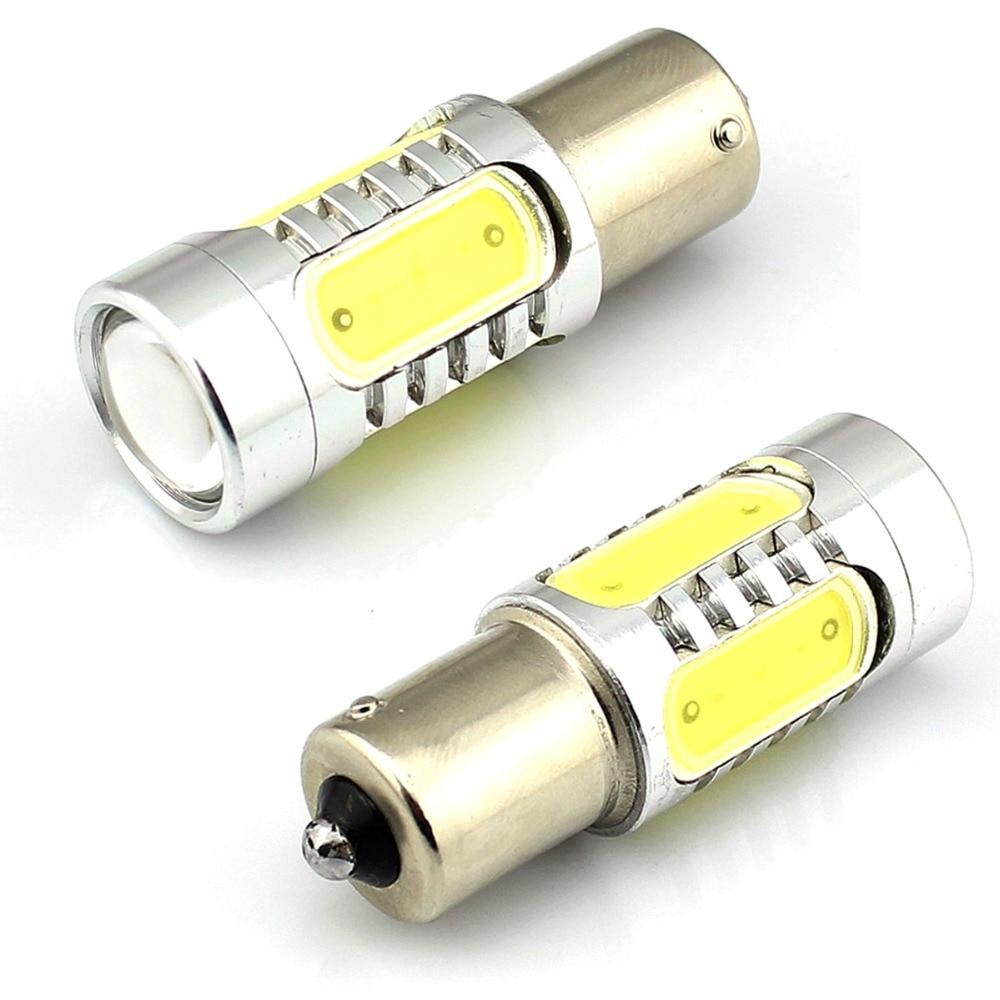 2pcs lot 1156 Ba15s S25 P21W 7 5W LED SMD and warm white Super Bright White