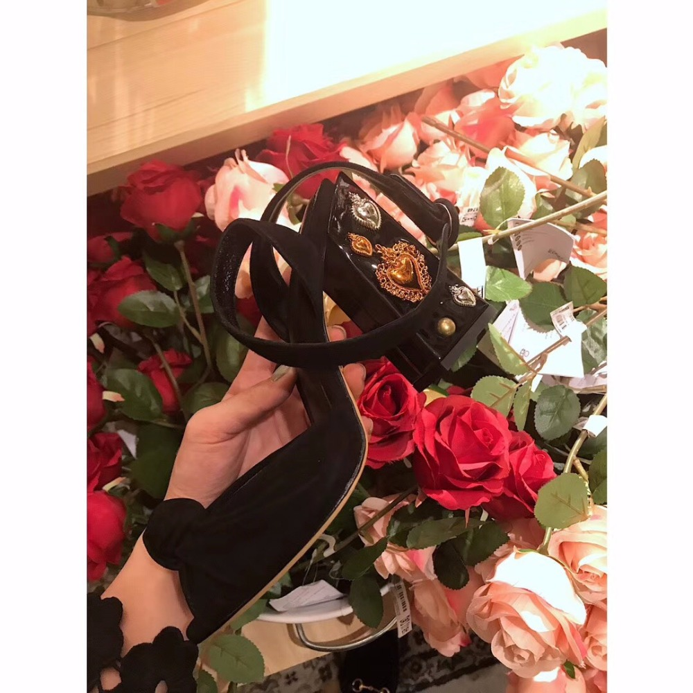 2018 shaduo Luxury women Genuine Leather fish mouth high heel rivet decorative heel single shoe buckle design wedding shoes-in Women's Pumps from Shoes    2