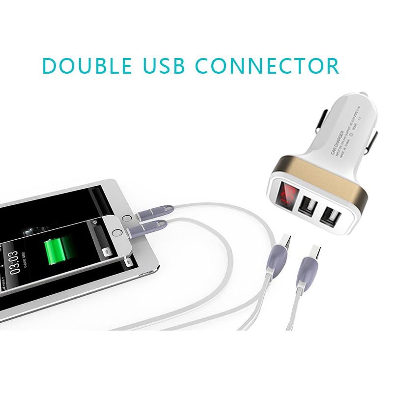 Mini Car-Charger Adapter 3 Port 12V-dən 5V Bluetooth 3.1A USB Car - Avtomobil elektronikası - Fotoqrafiya 4