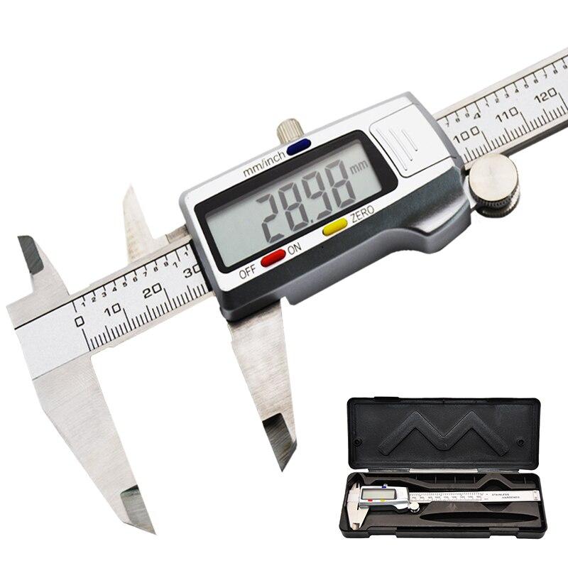 150mm Electronic Digital Vernier Caliper  Measurement Tool Micrometer Digital Caliper 6 Inch  Lcd Stainless Steel Metal Caliper