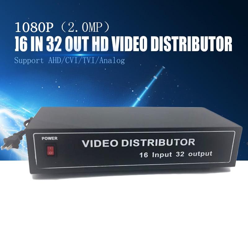 YiiSPO Wholesale 16-32ch Video distributor/Splitter BNC 16 Input 32 output Support AHD/CVI/TVI/analog Camera in&out 1080P 2.0MP 2 to 4 video splitter hd video distributor bnc 2 input 4 output support hd ahd cvi tvi camera in