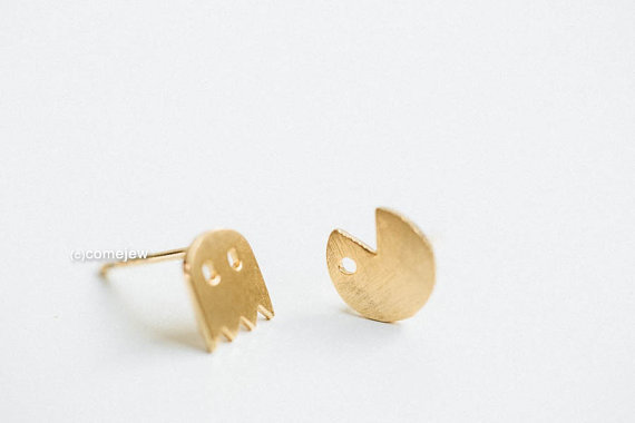 50pairs Fashion Pacman Or Pac Man Stud Earrings Cute Ghosts Fun Cartoon For In From Jewelry