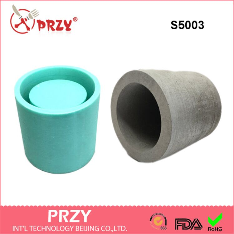 Silicone Mold Cylindrical shape 3D Vase cement Decorative Flower Handmade Molds for home decorations