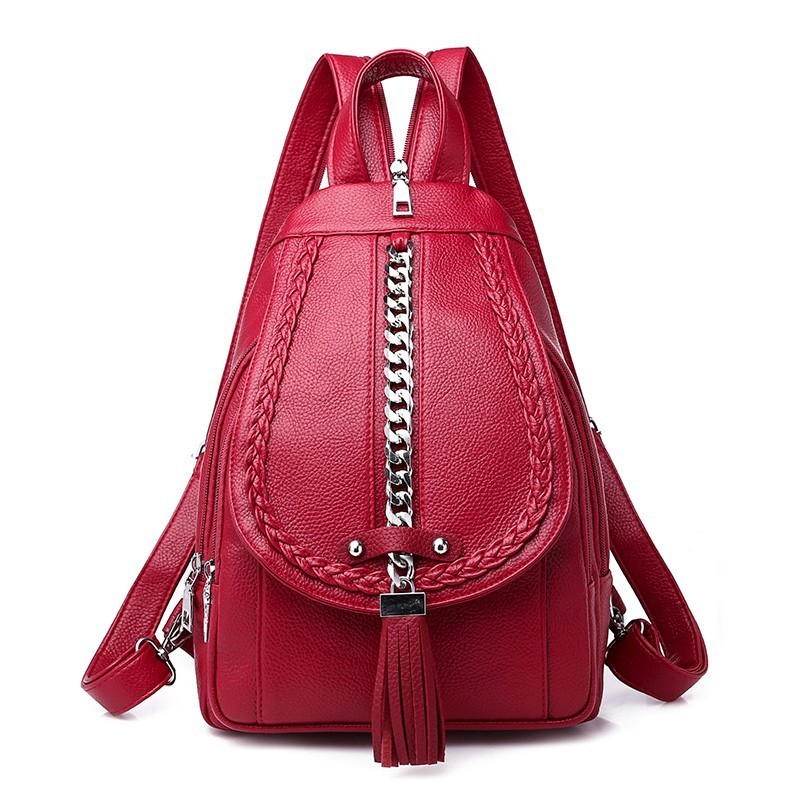 2019 Backpacks For Girls Mochilas Women Leather Backpacks Female Back Pack Preppy Style Large Capacity Travel Solid Rucksacks