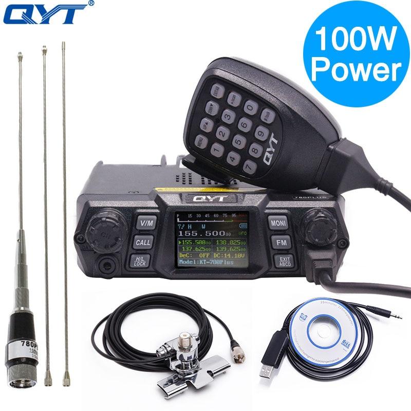 QYT KT 780 плюс 100 Вт Мощный УКВ 136 174 мГц радиолюбителей автомобиля трансивер KT780 200 каналов дальней связи Mobile