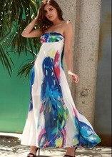 Women summer strapless dress new hot fashion sexy print women dress