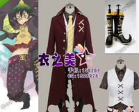Ao No Blue Exorcist Amaimon Earth King Cosplay Costume Shoes Boots Full Set