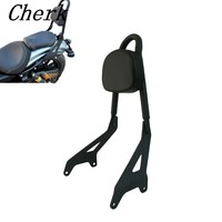 Motorcycle Black Rear Passenger Backrest Sissy Bar W Side Arm Pad For Yamaha Star Bolt XVS950