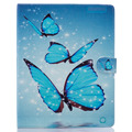 Sky blue butterfly Pattern PU Leather Flip Case for Apple iPad air1 2 iPad mini2 3 4 iPad2 3 4 pro Case Stand Case Free Shipping