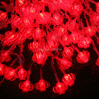 Fairy 8 * 0.5m 192 bulbs LED lantern Curtain string lights Christmas lights Holiday party decoration lamps indoor lighting
