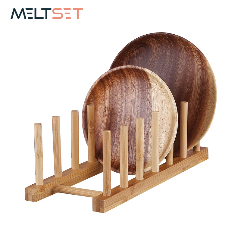 US $4.99 40% OFF|Wooden Dish Holders Kitchen Organizer Tableware Drying  Rack Tray Pan Storage Shelves Wood Shelf for Kitchen Accessories-in Storage  ...