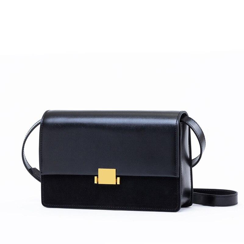 2018 Spring Summer Women s Flap Bag Genuine Leather Suede Crossbody Bag Famous Brand Design Ladies