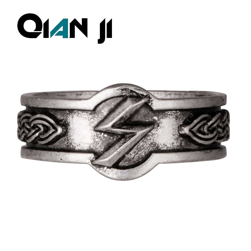 Drop Shipping Bset Friend  Viking Rune Rings  Nordic Alphabet Men Viking Ring Jewelry