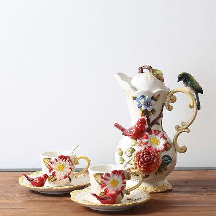 Teapot teacup set coffee pot coffee cup set home decoration gift