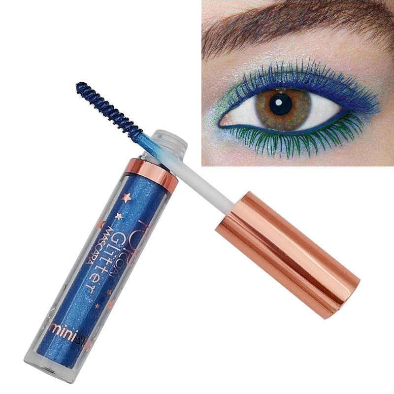 Ministar ماكياج العين الملونة ماسكارا 8 ألوان لون الشعر صبغ مقاوم للماء طويلة الأمد الأبيض الأرجواني الأزرق ماسكارا 4D رمش MT016