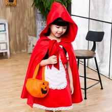 2016 Cute Little Red Riding Hood Costume Girl Kid s Halloween Cosplay Clothing Children s Princess