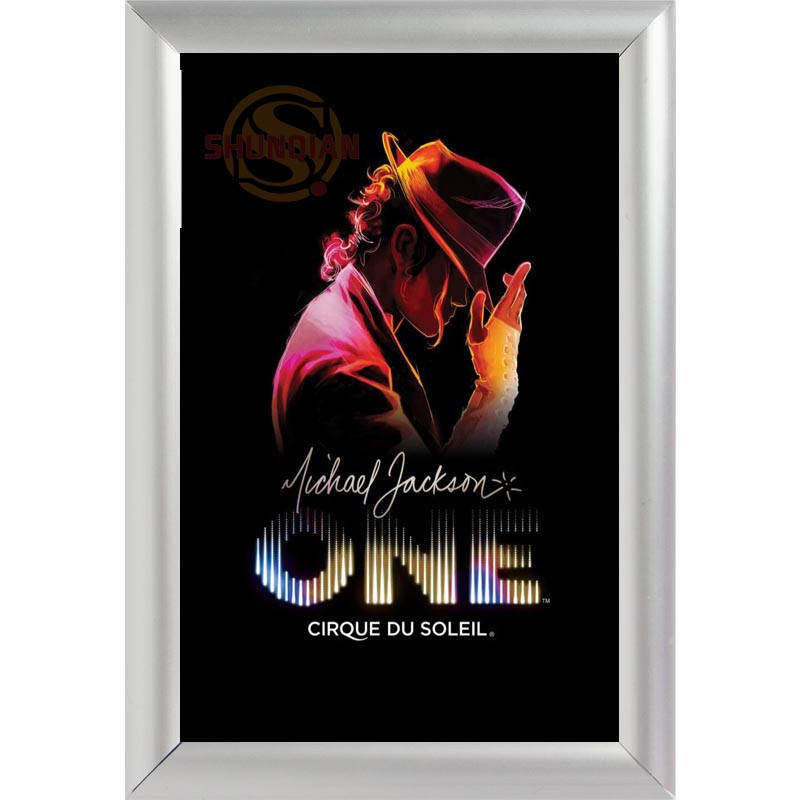 silver color aluminum alloy picture frame home decor custom canvas frame michael jackson canvas poster frame