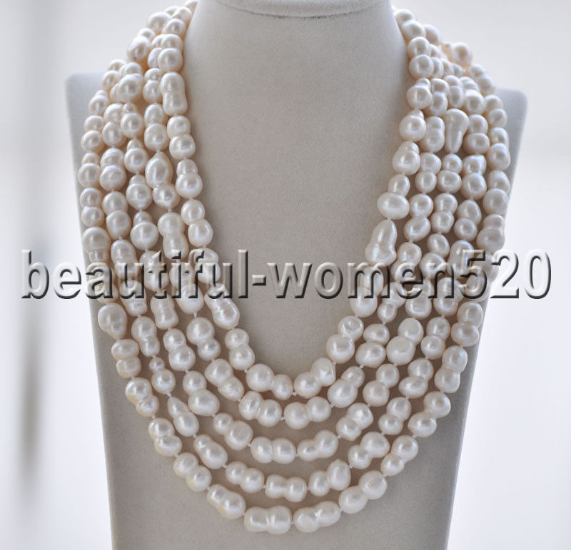 Z8865 Long 19mm White Double Freshwater Pearl Necklace 100inchZ8865 Long 19mm White Double Freshwater Pearl Necklace 100inch