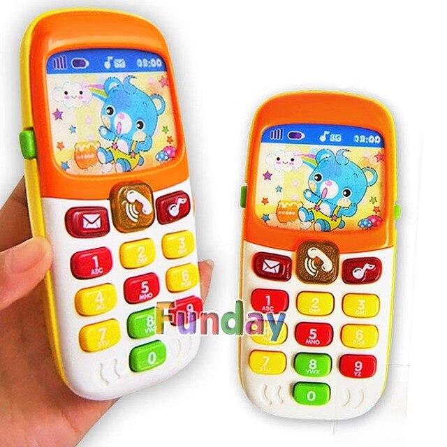 電子玩具電話の子供の携帯電話携帯電話教育学習おもちゃ音楽赤ちゃん幼児電話最高の贈り物