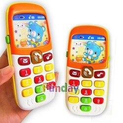 Telefone de brinquedo eletrônico Kid aprendizagem brinquedos educativos de telefone do telefone móvel celular música infantil do bebê telefone melhor presente para o miúdo