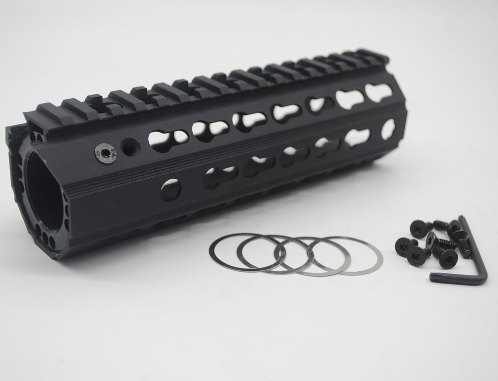 TriRock New Design 7 inch BLACK ANODIZED Keymod Handguard Rail Free Float Mount System Fit 223