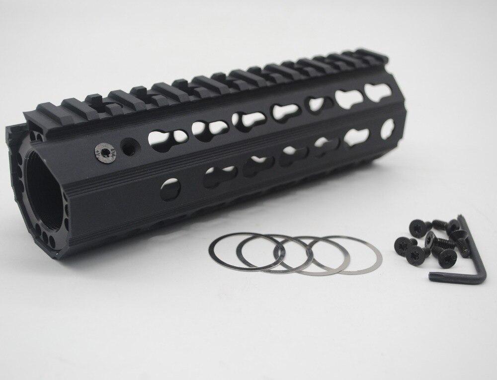 TriRock New Design 7'' Inch BLACK ANODIZED Keymod Handguard Rail Free Float Mount System Fit .223/5.56_inside Diameter 46 Mm