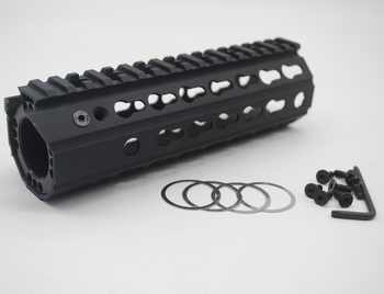 TriRock New Design 7\'\' inch BLACK ANODIZED Keymod Handguard Rail Free Float Mount System Fit .223/5.56_inside diameter 46 mm - SALE ITEM Sports & Entertainment
